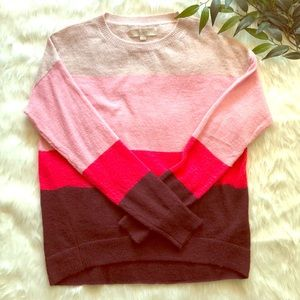 Loft Colorblock Sweater